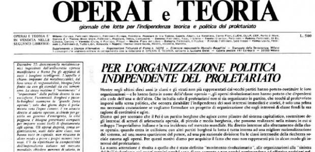 I CARC contro il partito operaio di Enzo Acerenza Scarica qui l'articolo in .pdf Fa uno strano effetto essere criticati di bordighismo dagli stalinisti e di stalinismo dai bordighisti. Siamo...